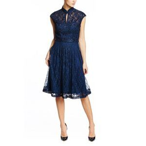 Sue Wong Navy cocktail dress 0